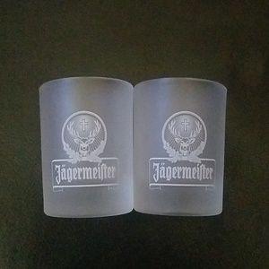 🔴NWOT Set of 2 Frosted Jagermeister shotglasses